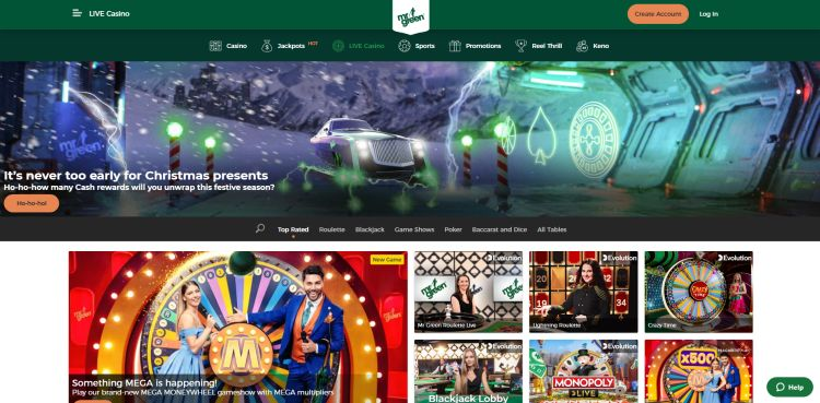 Mr green casino review game selection live casino
