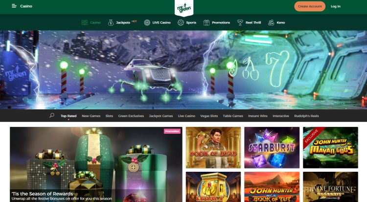 Mr green casino review game selection