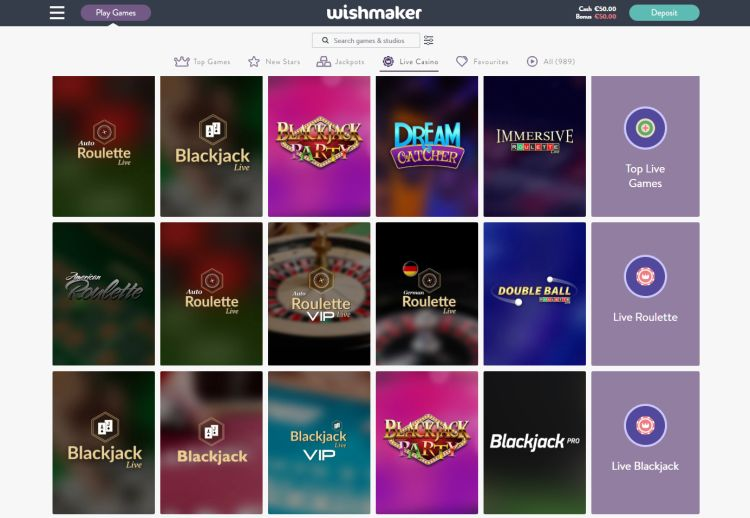 Wishmaker casino review live casino