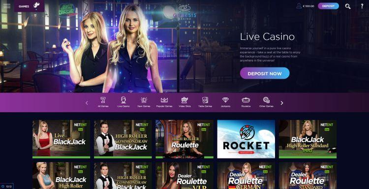 Genesis casino review live casino