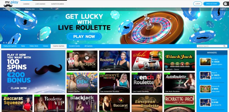 Mr play casino review table games