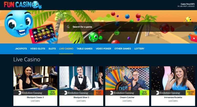 Fun casino review games selection
