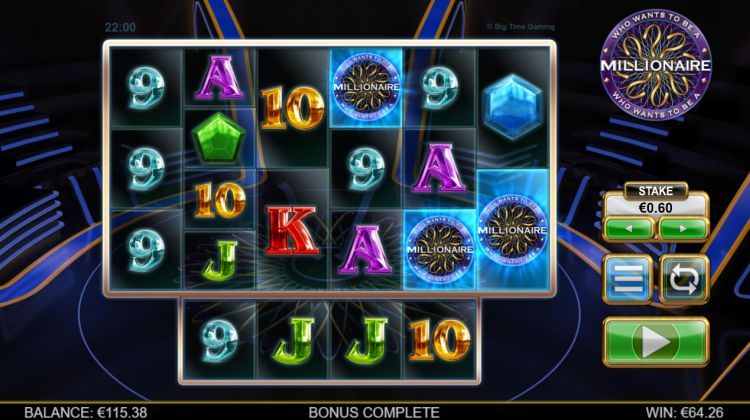 Who Wants to be a millionaire slot review bonus trigger