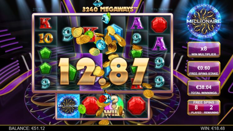 Who Wants to be a millionaire slot review bonus win