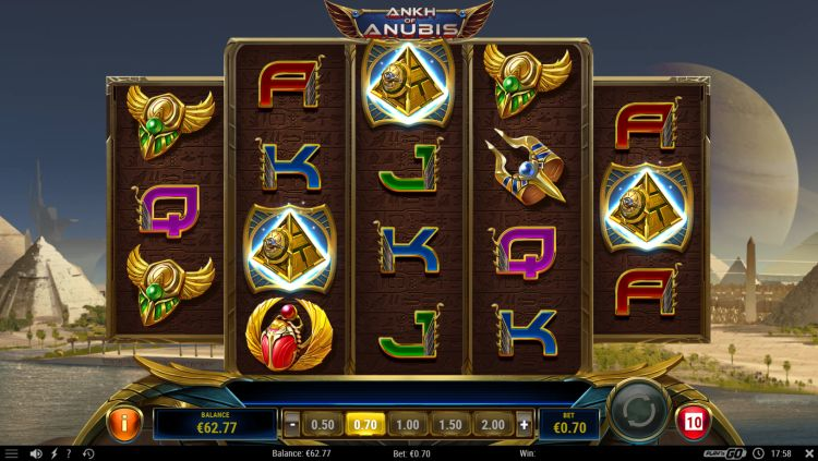 Ankh of Anubis free spins bonus trigger