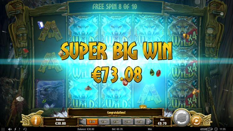 Coywolf Cash play'n Go slot super big win