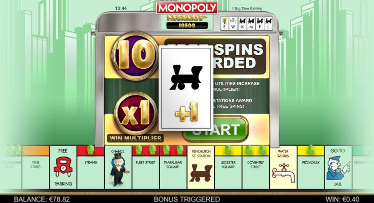 Monopoly Megaways slot big time gaming bonus trigger