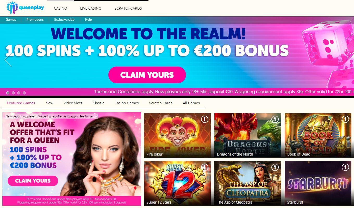 Queen-PLay-casino games selection