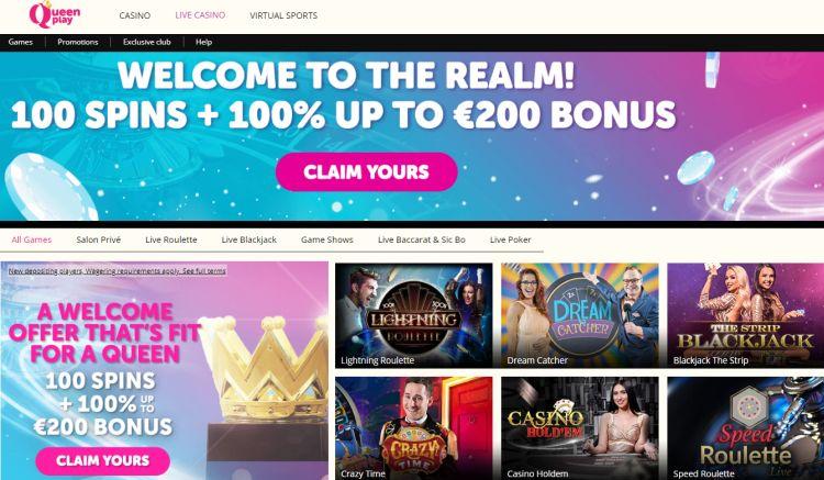 Queen Play Casino review live casino
