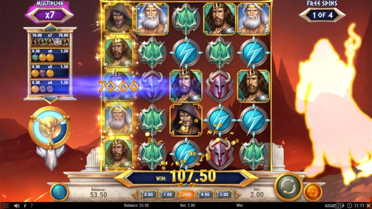 Rise of Olympus slot review bonus