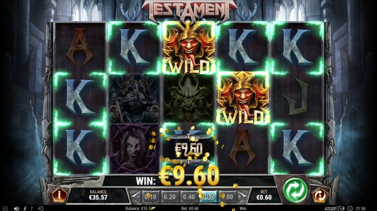 testament slot play n go