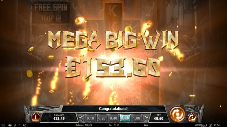 testament slot play n go review mega big win