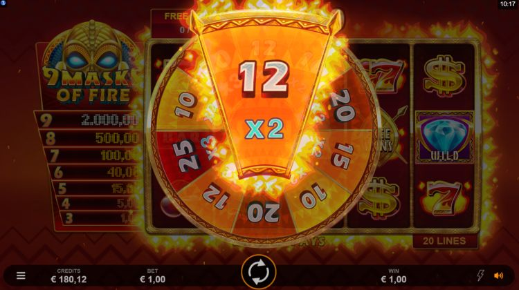9 masks of fire microgaming free spins