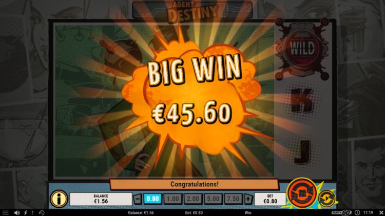 Agent destiny slot review big win