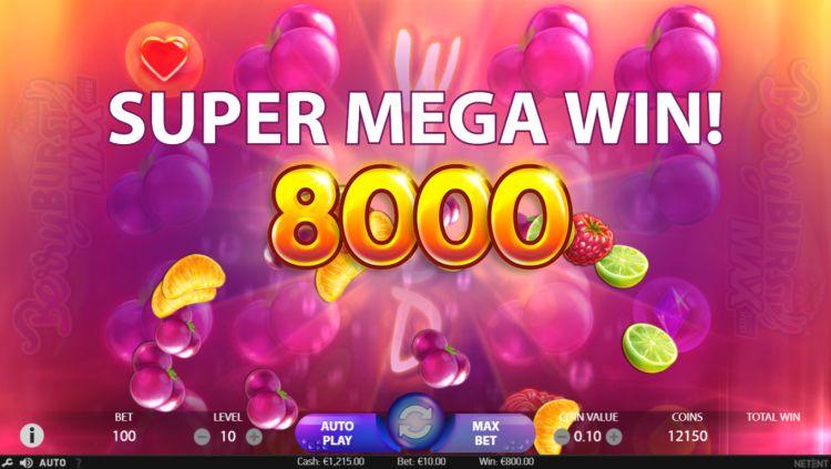 BerryBurst Max super mega win
