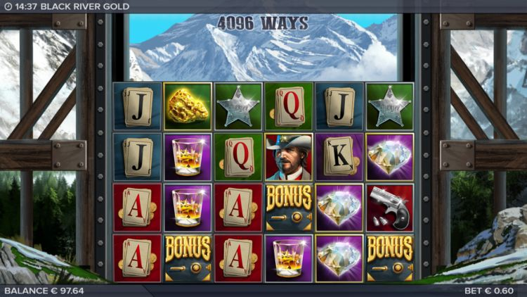 Black River Gold slot review free spins trigger