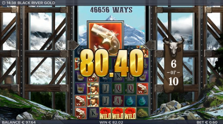 Black River Gold slot review free spins win