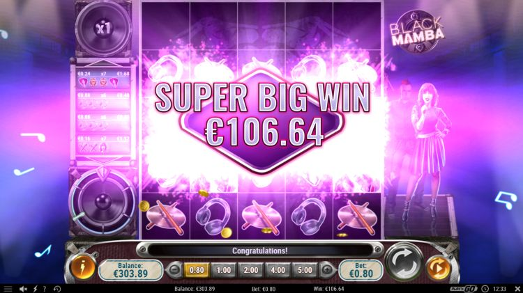Black mamba play n go slot super big win 2