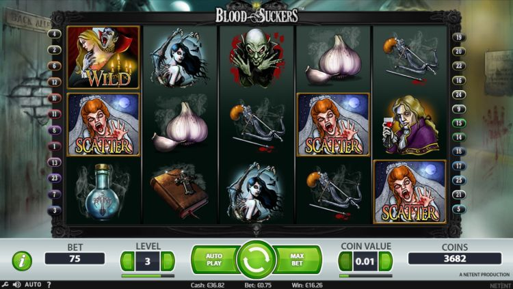 Blood Suckers Netent bonus trigger