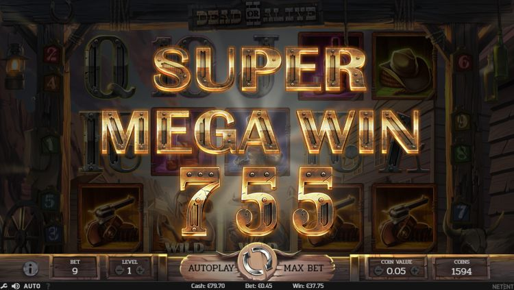 Dead or Alive II netent slot review mega win