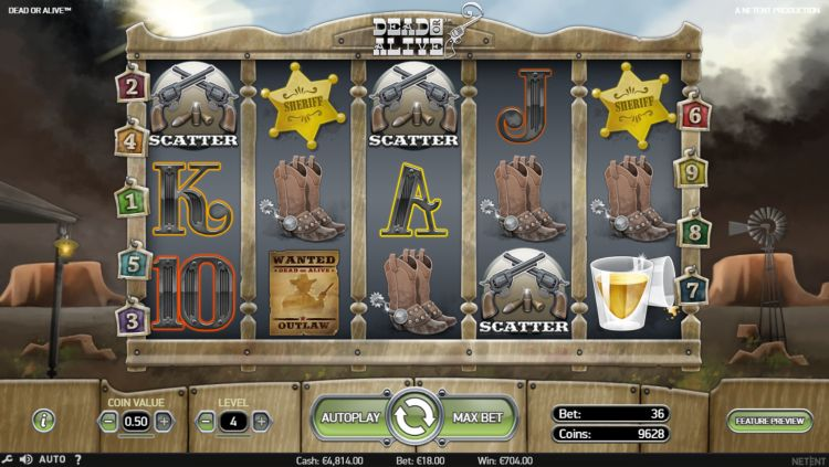 Dead or alive slot review bonus trigger
