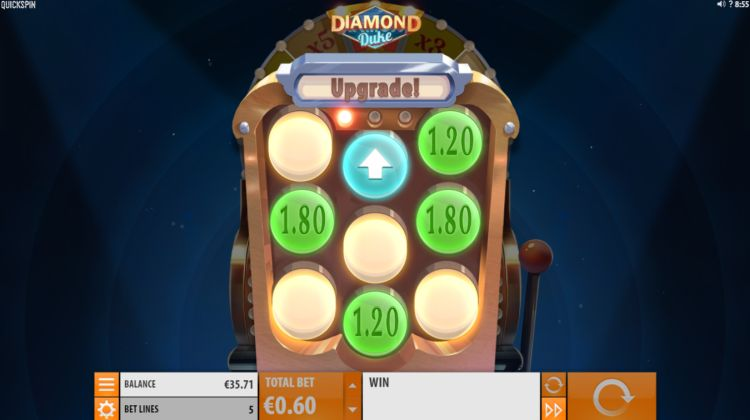 Diamond Duke slot bonus win upgrade