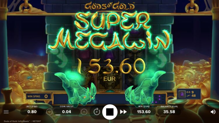 Gods of gold slot netent mega win