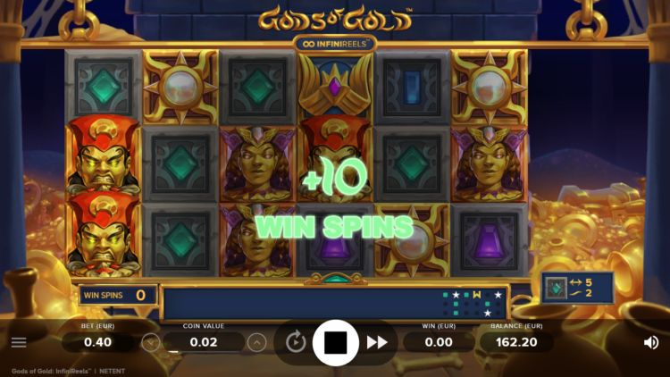 Gods of gold slot netent slot review bonus