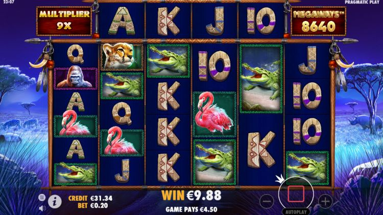 Great Rhino Megaways slot review free spins win