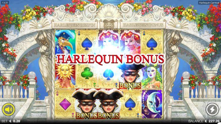 Harlequin-Carnival-slot review bonus trigger