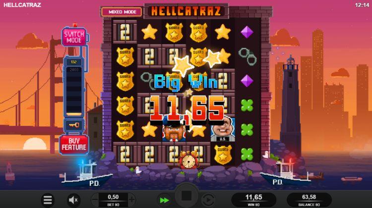 Hellcatraz gokkast relax gaming big win