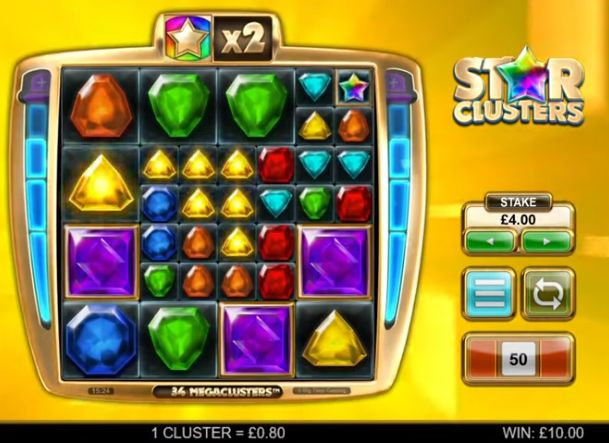 star clusters slot review big time gaming
