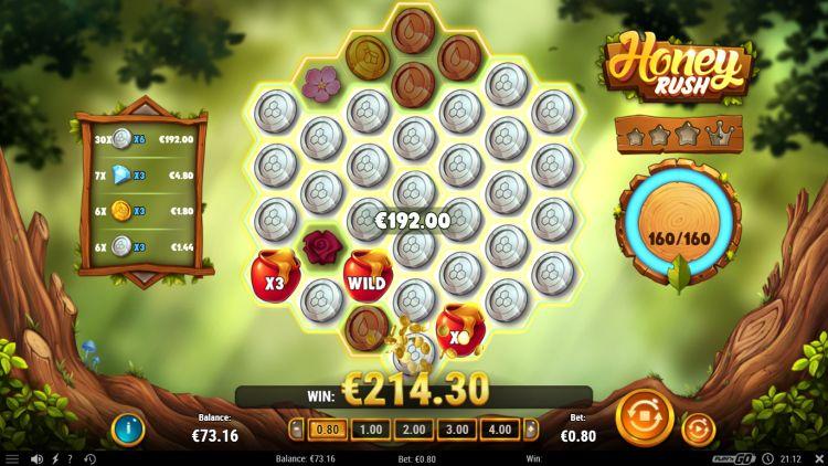 Honey Rush slot play'n go huge win