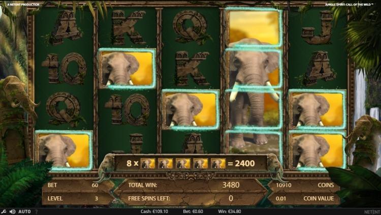 Jungle Spirit Netent bonus big win