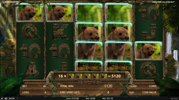 Jungle Spirit Netent bonus mega big win