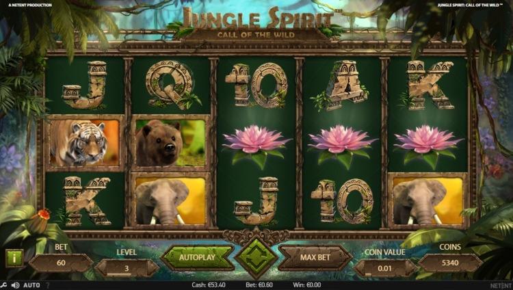 Jungle Spirit Netent bonus trigger