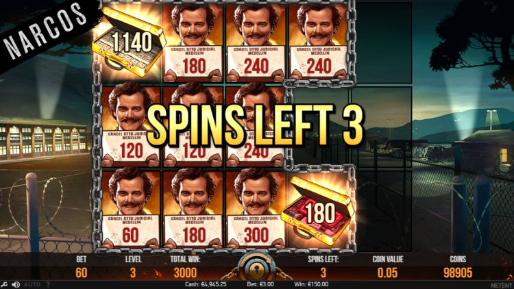 Narcos slot review netent bonus
