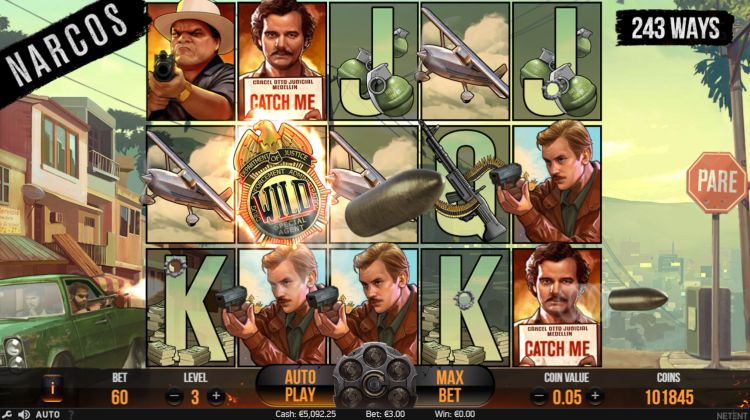 Narcos slot review netent feature