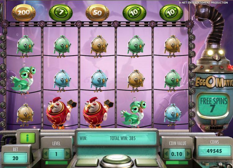 NetEnt-Eggomatic-slot bonus