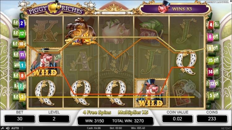 Piggy Riches slot Netent big win