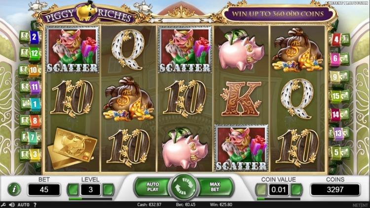 Piggy Riches slot bonus trigger