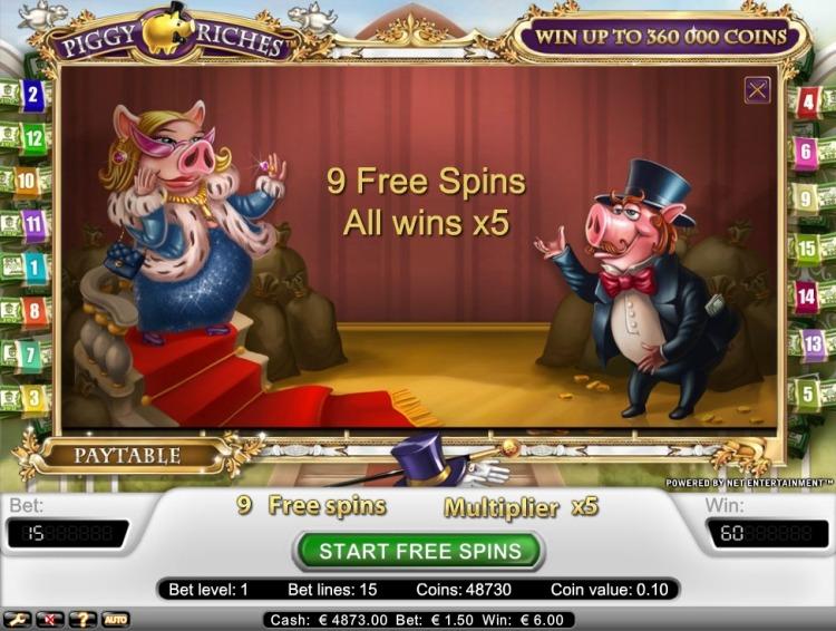 Piggy Riches slot review netent bonus