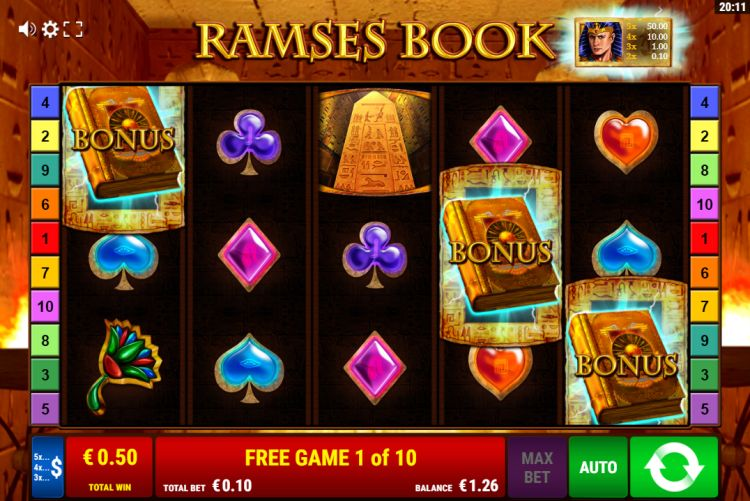 Ramses Book slot review bonus trigger