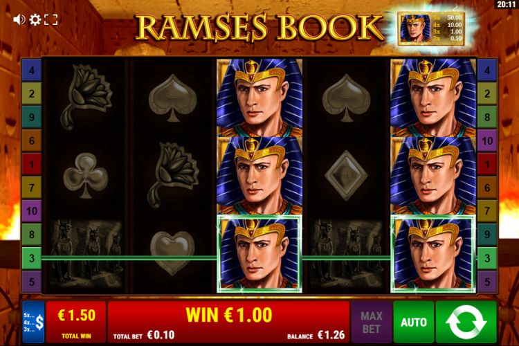Ramses Book slot review bonus win