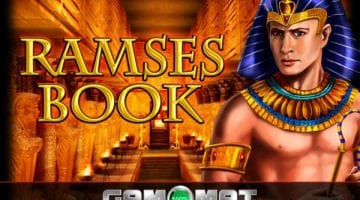 Ramses Book slot review gamomat logo
