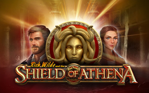 Rich Wilde shield of athena play n go logo