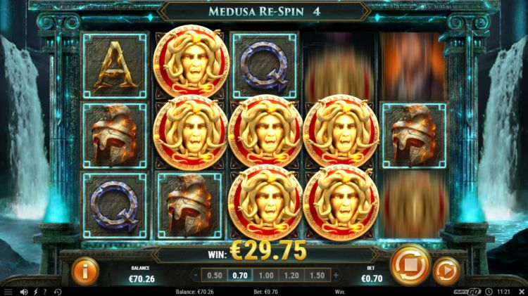Rich Wilde shield of athena slot big win