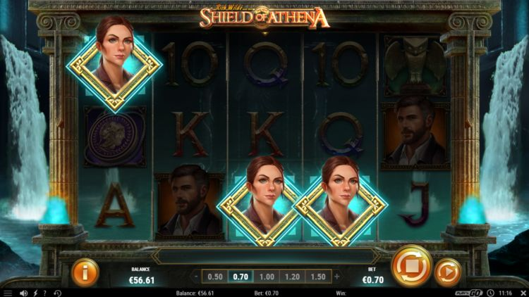 Rich Wilde shield of athena slot bonus trigger