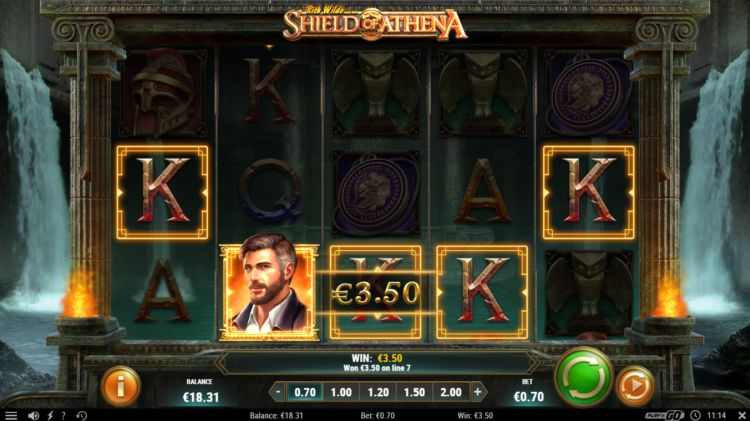 Rich Wilde shield of athena slot play n go