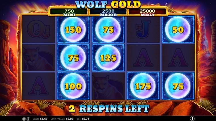 Wolf Gold slot bonus